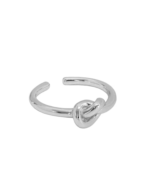 Art007 [platinum] 925 Sterling Silver Hollow knot Vintage Band Ring